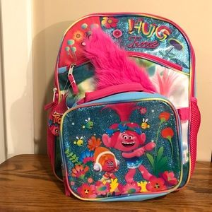 Trolls Princess Poppy Backpack and lunchbox